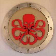 Hydra Marvel beige background, 14 inch Build-A-Clock