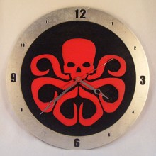 Hydra Marvel black background, 14 inch Build-A-Clock