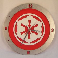 Imperial Star Wars red background, 14 inch Build-A-Clock