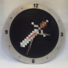 Minecraft Sword Black Background Clock
