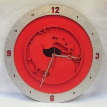 Mortal Kombat red background, 14 inch Build-A-Clock
