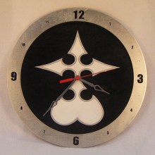 "14"" Wood Nobody Kingdom Hearts Black Background Build-A-Clock"