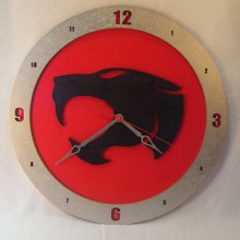 Thundercats red background, 14 inch Build-A-Clock