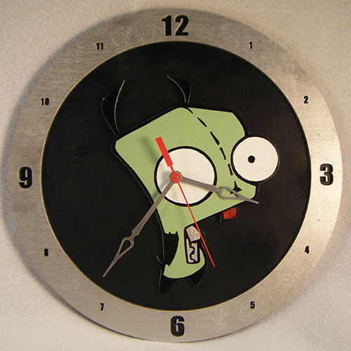 Gir Black Background Clock