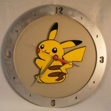 Pikachu Beige Background Clock
