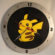Pikachu Black Background Clock