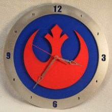 Rebel Star Wars blue background, 14 inch Build-A-Clock