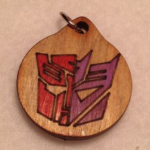 Autocon Red and Purple Wood Necklace