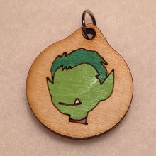 Beast Boy Teen Titans Wood Necklace