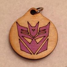 Transformers Decepticon Wood Necklace