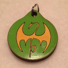 Iron Fist Wood Necklace
