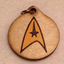 Star Trek Wood Necklace