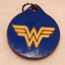 Wonder Woman Wood Necklace