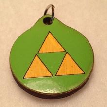 Zelda Triforce Wood Necklace