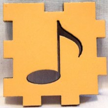 Yellow Music Note face