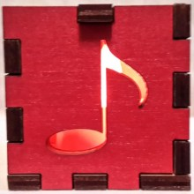 Red music note red lit