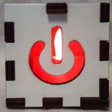 white power lit red