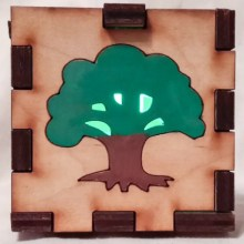 Tree LED Gift Box green