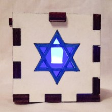 Star of David LED Gift Box blue