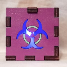 Biohazard Purple lit blue