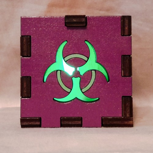 Biohazard Purple lit green