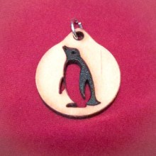 Penguin Wood Necklace