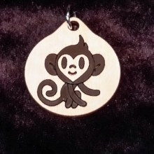 Monkey Boy Wood Necklace