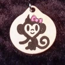 Monkey Girl Wood Necklace