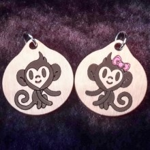 Monkey Boy and Girl Pendants