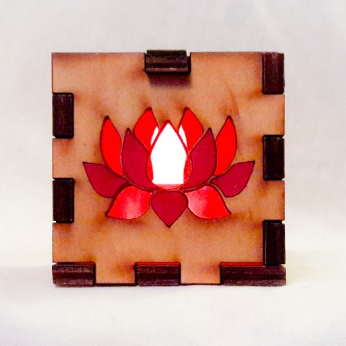 Lotus 5 Leaf lit red