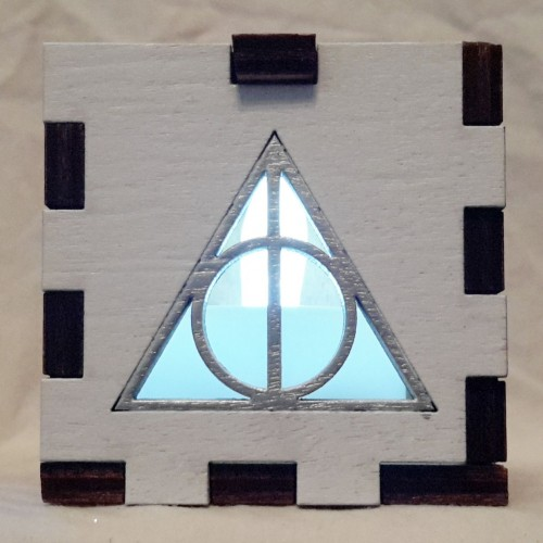 Deathly Hallows lit white