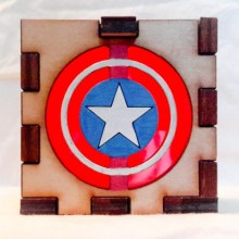 Captain America LED Gift Box red