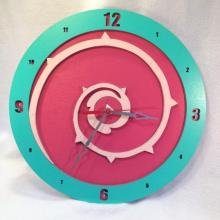 "Premade 14"" Wood Rose Quartz Steven Universe Wall Clock"