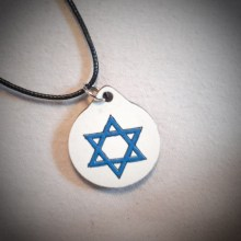 Star of David Wood Necklace