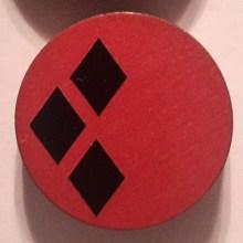 HarleyQuinn Black on Red Cuff Disk