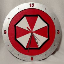 Umbrella Corp Resident Evil red background, 14 inch Build-A-Clock
