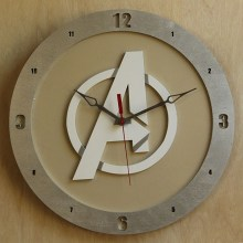 Avengers beige background, 14 inch Build-A-Clock