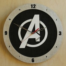 Avengers Black Build-A-Clock