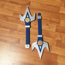 Blue Ranger's Double Bladed Lance, Power Ranger Cosplay Replica