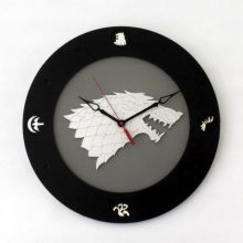 Stark House GOT Dire Wolf 14 inch 4 disc clock