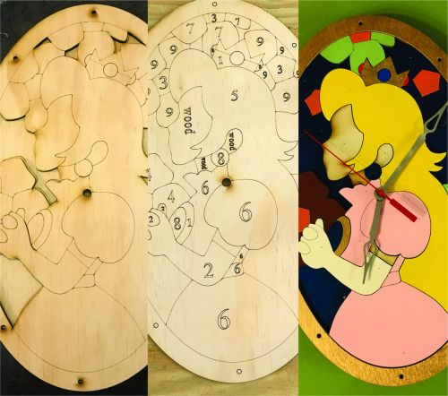 Princess Peach Clock Paint Own