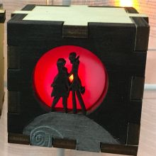 Jack and Sally LED Gift Box red