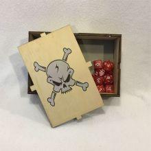 Dice Box Skull & Bones Open