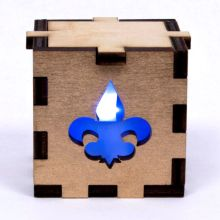 Fleur de Lys Lit Blue Tea Light