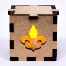 Fleur de Lys Lit Yellow Tea Light