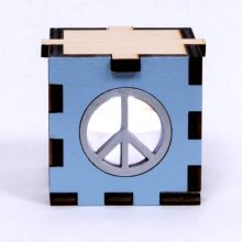 Peace Blue LED Gift Box White