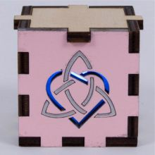 Triquettra Heart Pink-Blue Light