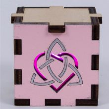 Triquetra Heart pink LED Gift Box pink