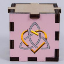 Triquettra Heart Pink-Yellow Light