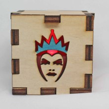Evil Queen Wood Lit Red LED Tea Light